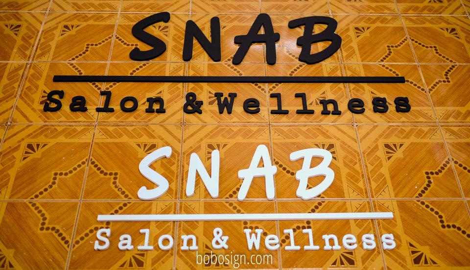 อักษรร้าน SNAB