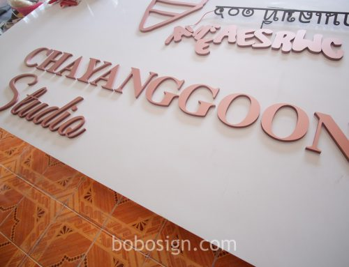 อักษรพลาสวูด CHAYANGGOON STUDIO